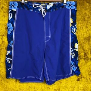 Tracys Creations Blue Tropical Board Shorts Size38